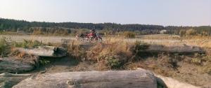 Motorcycle stop at Esquimalt Lagoon